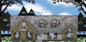 House Plan 79062 | Country Style Plan with 1691 Sq Ft, 3 Bedrooms, 2 Bathrooms, 2 Car Garage Elevation