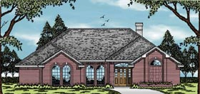 European House Plan 79063 with 3 Beds, 2 Baths, 2 Car Garage Elevation