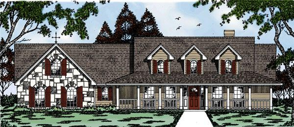 Country House Plan 79066 Elevation