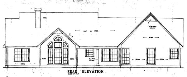 Country House Plan 79066 Rear Elevation