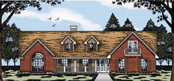 Country House Plan 79068 with 3 Beds, 2 Baths, 2 Car Garage Elevation