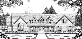 House Plan 79071 | Country Style Plan with 2040 Sq Ft, 3 Bedrooms, 2 Bathrooms, 2 Car Garage Elevation