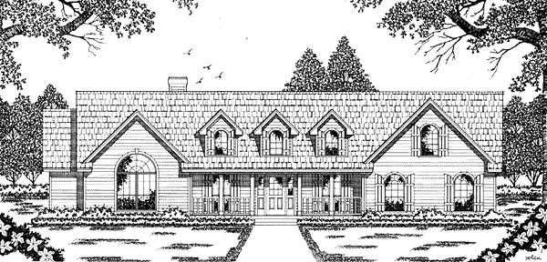 Country House Plan 79071 Elevation