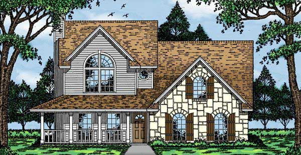 Country House Plan 79072 with 3 Beds, 2 Baths, 2 Car Garage Elevation