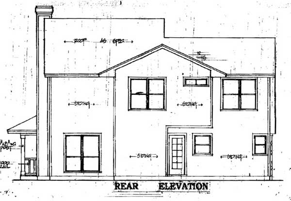Country House Plan 79072 with 3 Beds, 2 Baths, 2 Car Garage Rear Elevation