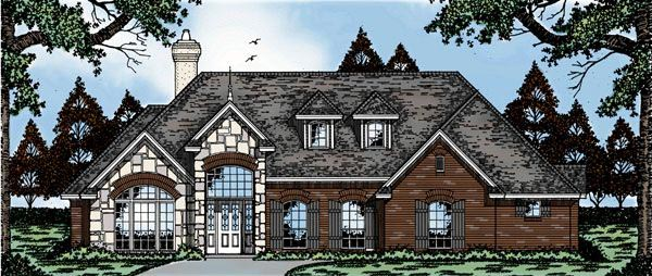 European House Plan 79075 Elevation