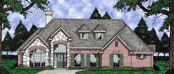 European Tudor House Plan 79076 Elevation