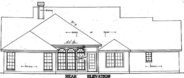 Cape Cod Country House Plan 79080 Rear Elevation