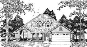 European House Plan 79081 Elevation