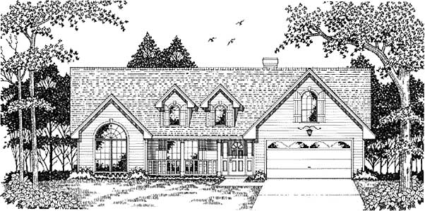 Country Traditional House Plan 79083 Elevation