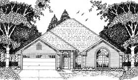 European Traditional House Plan 79084 Elevation