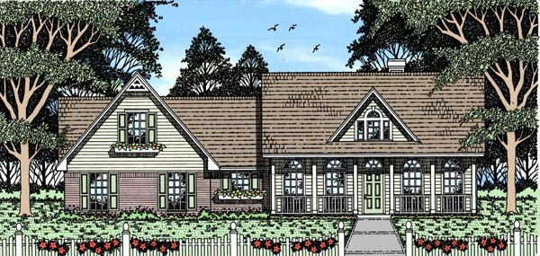 Country Southern House Plan 79087 Elevation