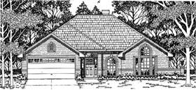 European House Plan 79100 Elevation