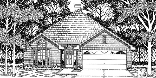 House Plan 79101 | European Style Plan with 1465 Sq Ft, 3 Bedrooms, 2 Bathrooms, 2 Car Garage Elevation