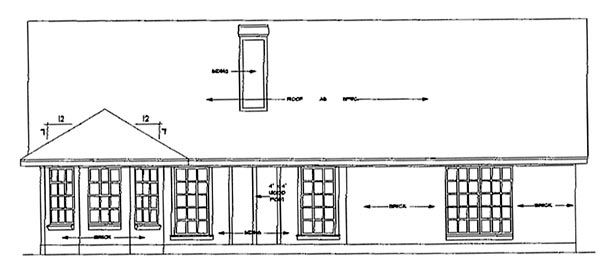 Country House Plan 79102 Rear Elevation