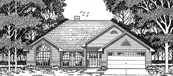 European House Plan 79103 Elevation