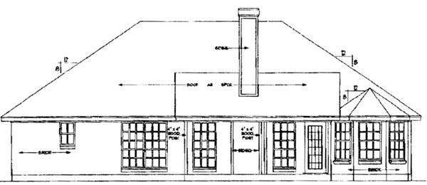 European House Plan 79103 Rear Elevation