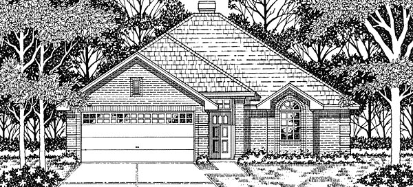 European House Plan 79105 Elevation