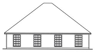 Country Multi-Family Plan 79110 Rear Elevation