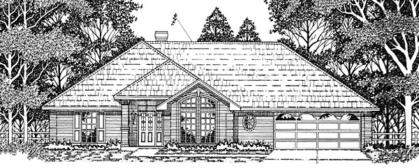 European House Plan 79113 Elevation