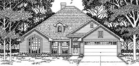 European House Plan 79115 Elevation