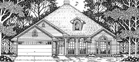 European House Plan 79116 with 4 Beds, 2 Baths, 2 Car Garage Elevation