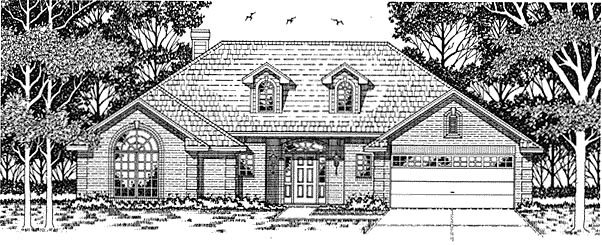 European House Plan 79118 Elevation