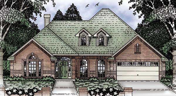 European House Plan 79120 Elevation