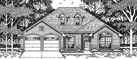 European House Plan 79121 Elevation