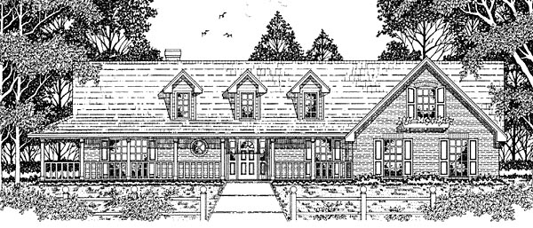 Country House Plan 79122 Elevation