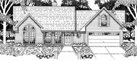 House Plan 79132 | Traditional Style Plan with 1681 Sq Ft, 3 Bedrooms, 2 Bathrooms, 2 Car Garage Elevation