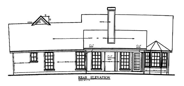 Traditional House Plan 79132 Rear Elevation