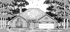 House Plan 79133 | European Style Plan with 1431 Sq Ft, 3 Bedrooms, 2 Bathrooms, 2 Car Garage Elevation