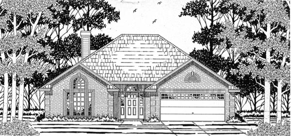 European House Plan 79133 Elevation