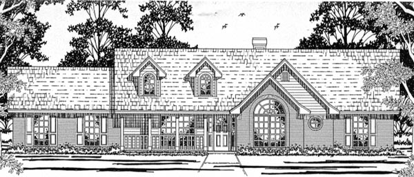 Country House Plan 79134 Elevation