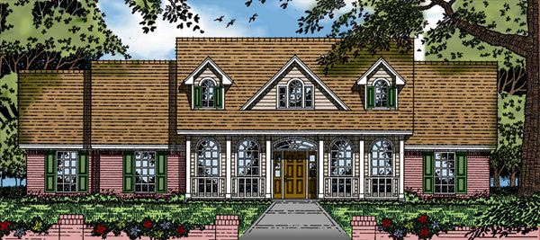 Cape Cod Country House Plan 79139 Elevation