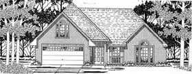 House Plan 79140 | Traditional Style Plan with 1717 Sq Ft, 3 Bedrooms, 2 Bathrooms, 2 Car Garage Elevation