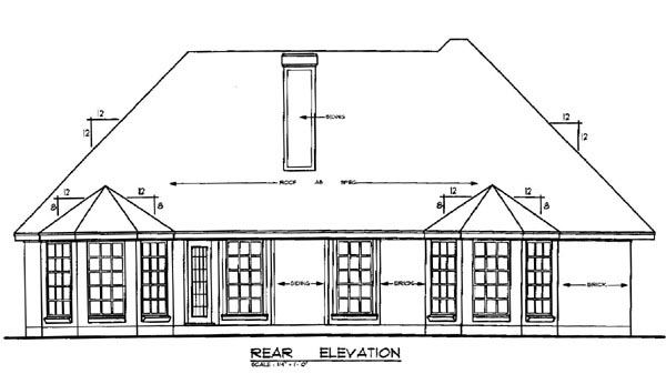 Traditional House Plan 79140 Rear Elevation