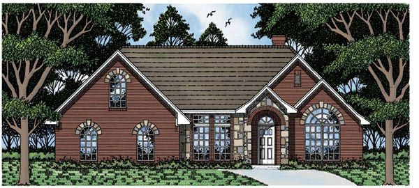 European House Plan 79142 Elevation
