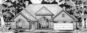 European House Plan 79143 Elevation