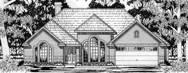 European House Plan 79143 Elevation