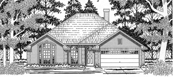 European House Plan 79144 Elevation