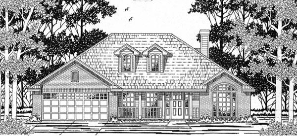 European House Plan 79145 Elevation