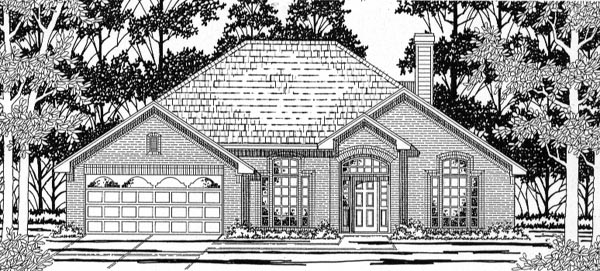European House Plan 79146 with 3 Beds, 2 Baths Elevation