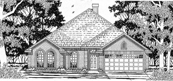 European House Plan 79147 Elevation