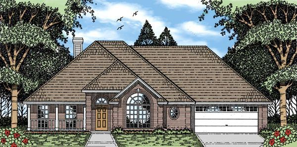 European House Plan 79149 Elevation