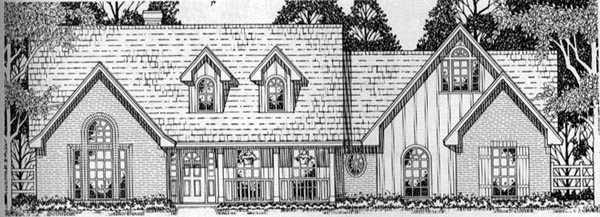 Cape Cod Country Tudor House Plan 79150 Elevation