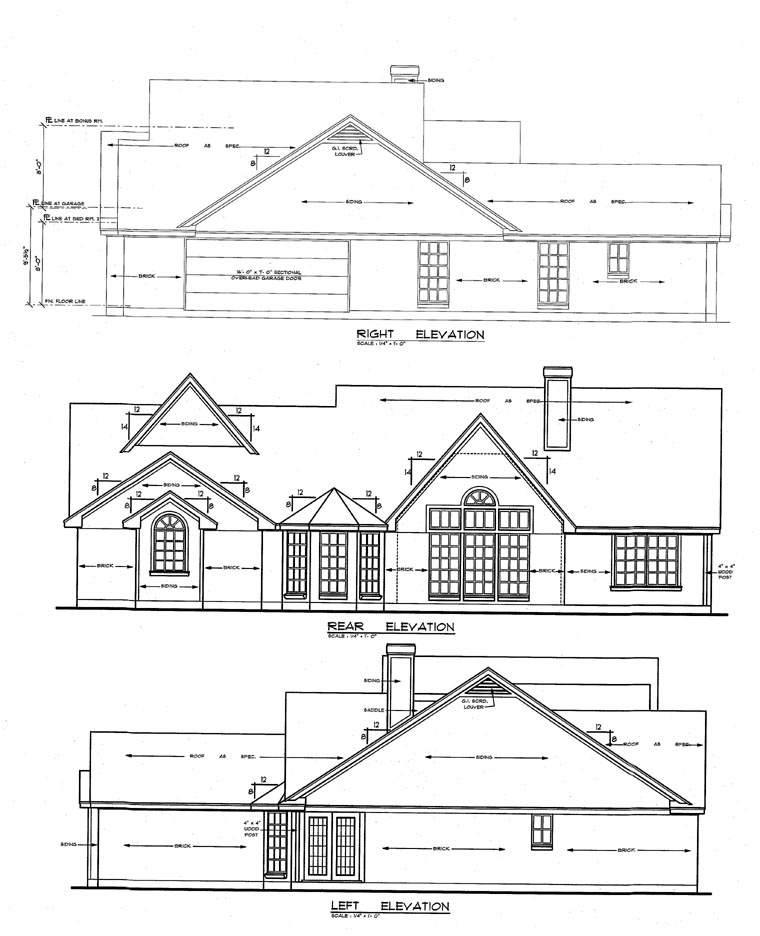 Cape Cod Country Tudor House Plan 79150 Rear Elevation