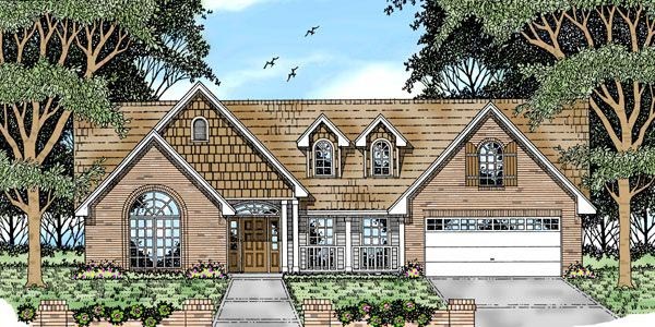 Country Craftsman Traditional House Plan 79156 Elevation