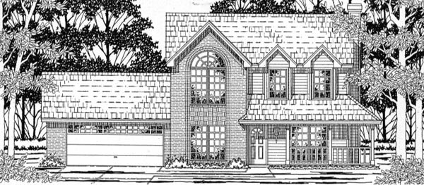 House Plan 79158 | Country Style Plan with 1602 Sq Ft, 3 Bedrooms, 3 Bathrooms, 2 Car Garage Elevation